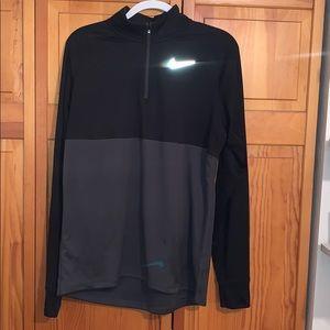 Men's Nike black and gray quarter zip